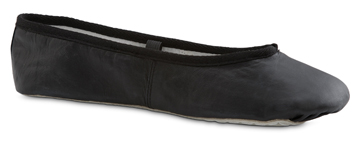 BALLERINA Adult's Black Leather Ballet