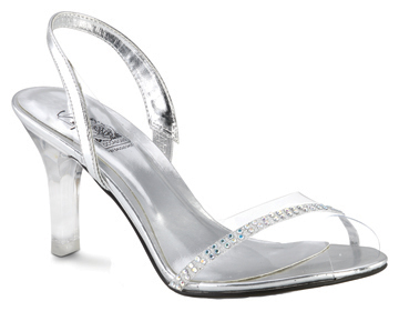 blanca clearsilver slingback w crystals available