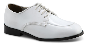 BOY'S OXFORD Boy's White Patent