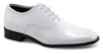 MEN'S DAPPER White Patent Square Toe