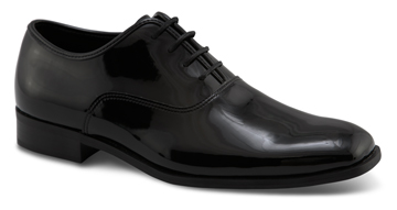MEN'S DAPPER Black Patent Square Toe