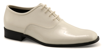 MEN'S DAPPER Ivory Patent Square Toe