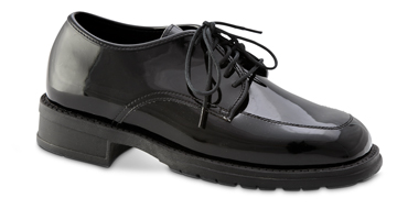 MEN'S OXFORD Black Patent Round Toe